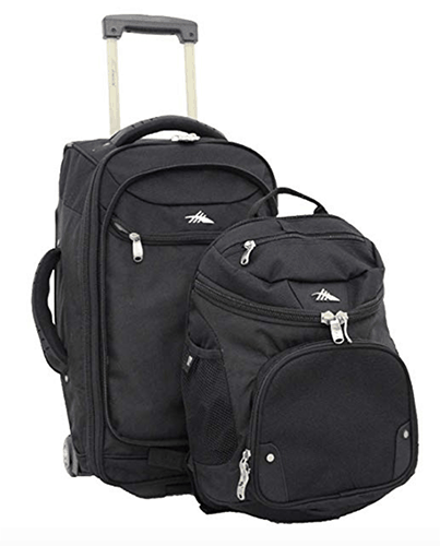 High Sierra AT3 Carry On-Wheeled Backpack for air travel